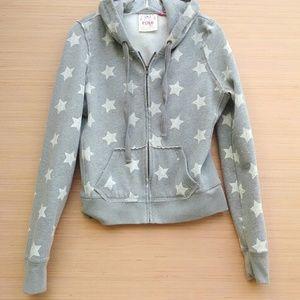 Victoria's Secret PINK grey w white stars hoodie
